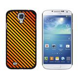 Urban Stripes Orange Black Galaxy S4 Case