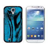 Wood Grain Blue Galaxy S4 Case