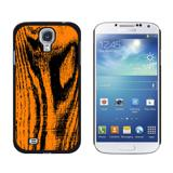 Wood Grain Orange Galaxy S4 Case