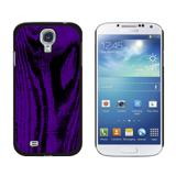 Wood Grain Purple Galaxy S4 Case