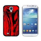 Wood Grain Red Galaxy S4 Case