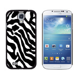 Zebra Print Black White Galaxy S4 Case