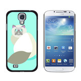 Geometric Himalayan Persian Siamese Cat Galaxy S4 Case