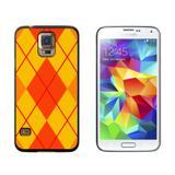 Argyle Hipster Orange - Preppy Galaxy S5 Case