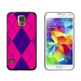 Argyle Hipster Purple Fuchsia - Preppy Galaxy S5 Case