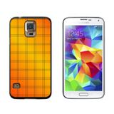 Mad for Plaid Orange Galaxy S5 Case