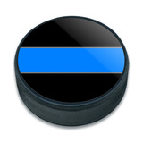 Thin Blue Line Ice Hockey Puck