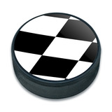 Checkered Flag Racing Ice Hockey Puck