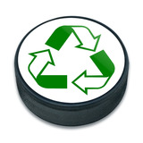 Recycle Reuse Conservation Hybrid Ice Hockey Puck
