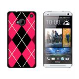 Argyle Hipster Pink HTC One Case