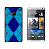Argyle Hipster Blue HTC One Case