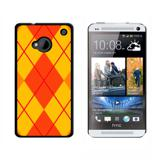 Argyle Hipster Orange HTC One Case