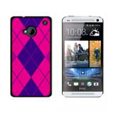 Argyle Hipster Purple Fuchsia HTC One Case