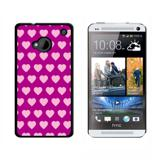 Sweet Heart Pattern Fuchsia HTC One Case