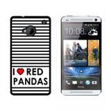 I Love Heart Red Pandas HTC One Case