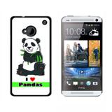 I Love Heart Pandas - Bear China Bamboo HTC One Case