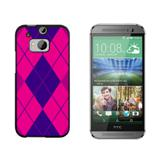 Argyle Hipster Purple Fuchsia - Preppy HTC One M8 Case