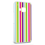Snap On Protective Slim Hard Case for HTC One M9 Patterns - Yuppy Colorful Stripes