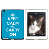Keep Calm and Carry On Blue Apple iPad Case