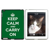 Keep Calm and Carry On Green Apple iPad Case