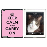 Keep Calm and Carry On Pink Apple iPad Case