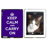 Keep Calm and Carry On Purple Apple iPad Case