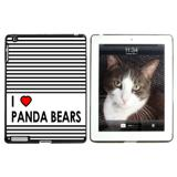 I Love Heart Panda Bears Apple iPad Case