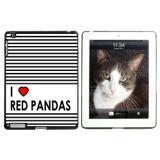 I Love Heart Red Pandas Apple iPad Case