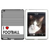 I Love Heart Football Apple iPad Case