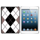 Argyle Hipster Black White - Preppy iPad Mini Case