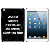 Five Tenets of Taekwondo Distressed iPad Mini Case