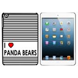 I Love Heart Panda Bears iPad Mini Case