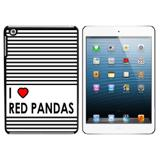 I Love Heart Red Pandas iPad Mini Case
