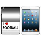 I Love Heart Football iPad Mini Case