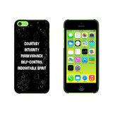 Five Tenets of Taekwondo Distressed Case for Apple iPhone 5C