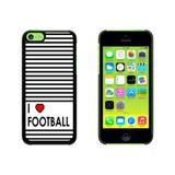 I Love Heart Football Case for Apple iPhone 5C