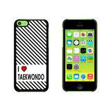 I Love Heart Taekwondo Case for Apple iPhone 5C