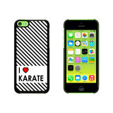 I Love Heart Karate Case for Apple iPhone 5C