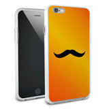 Mustache Funny Orange Snap On Protective Slim Hybrid Rubber Bumper Case for Apple iPhone 6/6s Plus