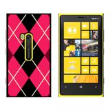 Argyle Hipster Pink - Snap On Case for Nokia Lumia 920
