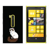 Persian Cat Himalayan Color Points on Black - Pet - Snap On Case for Nokia Lumia 920