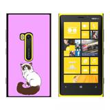 Persian Cat Himalayan Color Points on Pink - Pet - Snap On Case for Nokia Lumia 920