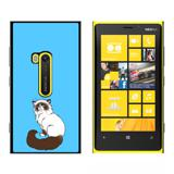 Persian Cat Himalayan Color Points on Blue - Pet - Snap On Case for Nokia Lumia 920
