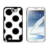 Mega Polka Dots Black White Galaxy Note II