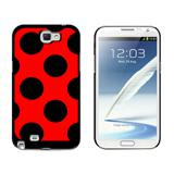 Mega Polka Dots Black Red Galaxy Note II