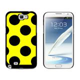Mega Polka Dots Black Yellow Galaxy Note II