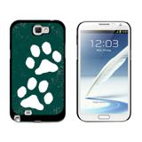 Paw Prints Distressed Teal Galaxy Note II