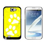 Paw Prints Distressed Yellow Galaxy Note II