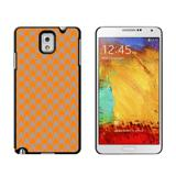 Preppy Houndstooth Orange Gray Case for Galaxy Note III