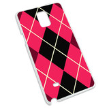 Argyle Hipster Pink - Preppy Snap On Hard Protective Case for Samsung Galaxy Note 4
